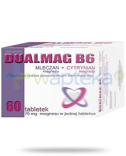 Dualmag B6 przyswajalne formy magnezu 60 tabletek