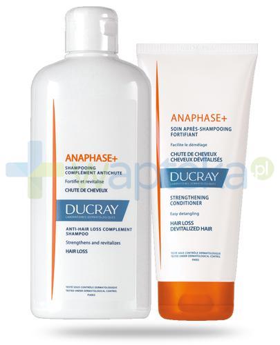 Ducray Anaphase+ szampon przeciw wypadaniu włosów 400 ml + odżywka do włosów 200 ml [ZESTAW]