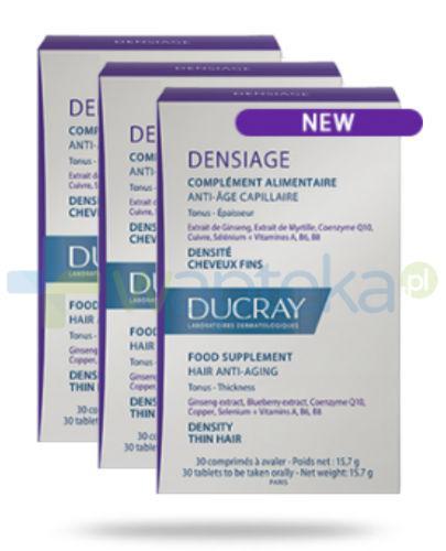 Ducray Densiage Suplement diety dla zachowania zdrowych włosów 90 kapsułek [TRÓJPAK]
