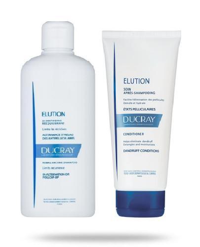 Ducray Elution szampon przywracający równowagę skórze głowy 400 ml + odżywka do włosów 200 ml [ZESTAW]