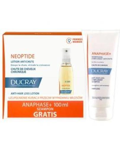 Ducray Neoptide płyn przeciw wypadaniu włosów 3x 30 ml + Ducray Anaphase szampon stymulujący o kremowej konsystencji 100 ml