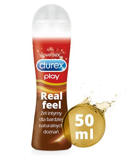 Durex Play Real Feel żel intymny dla naturalnie intensywnych doznań 50 ml [KUP 2 dwa dowolne produkty DUREX = breloczek GRATIS]