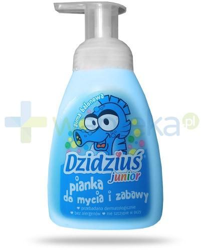 Dzidziuś Junior hipoalergiczna pianka w płynie dla niemowląt i dzieci o zapachu gumy balonowej 275 ml