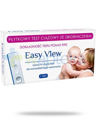 Easy View test ciążowy płytkowy ze zbiorniczkiem 1 sztuka