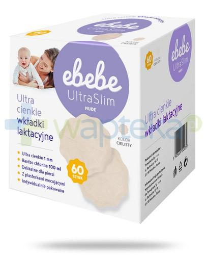 eBebe UltraSlim Nude wkładki laktacyjne kolor cielisty 60 sztuk