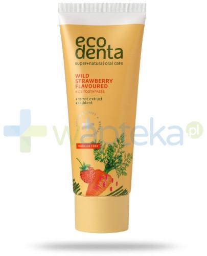 EcoDenta pasta do zębów o zapachu poziomek z wyciągiem z marchwi i Kalident 75 ml