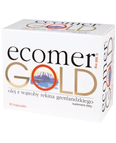 Ecomer Gold olej z wątroby rekina grenlandzkiego 500mg 60 kapsułek