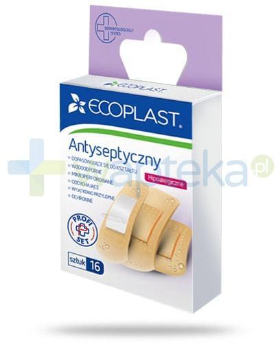 EcoPlast Antyseptyczny hipoalergiczne plastry polimerowe 16 sztuk