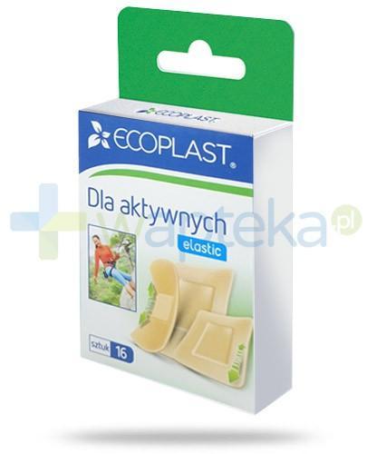 EcoPlast Dla aktywnych zestaw plastrów medycznych elastycznych 16 sztuk
