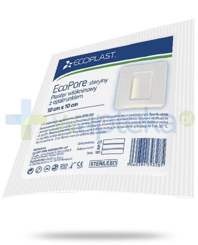 EcoPlast EcoPore sterylny przylepiec medyczny włókninowy z opatrunkiem 10x 10cm