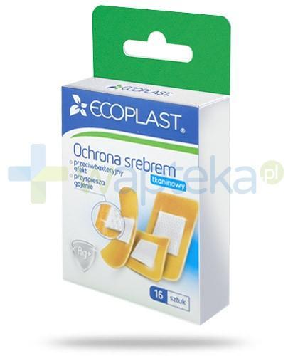 EcoPlast Ochrona srebrem zestaw plastrów medycznych tkaninowych 16 sztuk