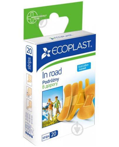 EcoPlast Podróżny zestaw plastrów medycznych bawełnianych 20 sztuk