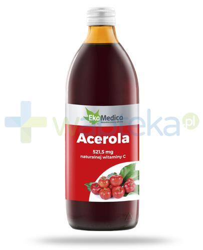EkaMedica Acerola sok 521,5mg naturalnej witaminy C 1000 ml