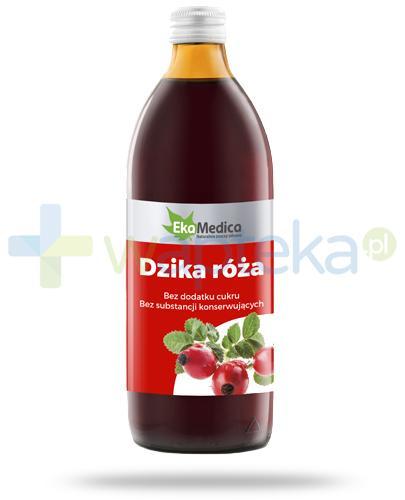 EkaMedica Dzika róża sok z owoców dzikiej róży pasteryzowany 1000 ml