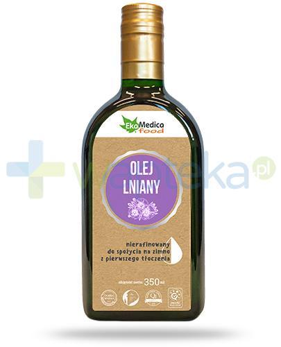 EkaMedica Food olej lniany nierafinowany 350 ml