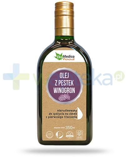 EkaMedica Food olej z pestek winogron nierafinowany 350 ml