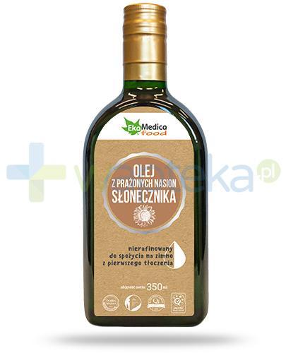 EkaMedica Food olej z prażonych nasion słonecznika nierafinowany 350 ml