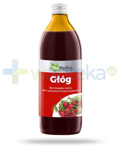 EkaMedica Głóg sok z owoców głogu pasteryzowany 500 ml