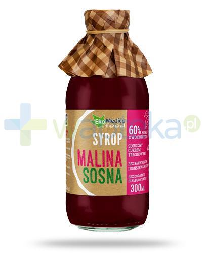 EkaMedica Malina Sosna, syrop z owoców malin z wyciągiem z pędów sosny 300 ml