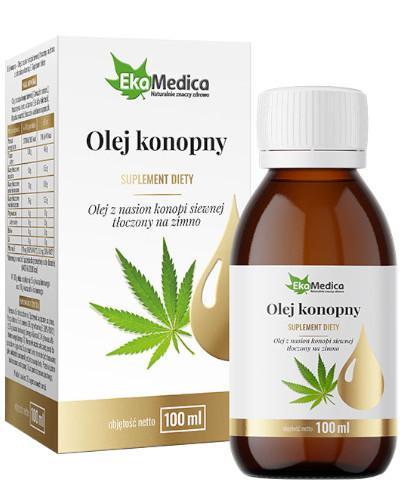 EkaMedica Olej konopny olej z nasion konopi siewnej tłoczony na zimno 100 ml