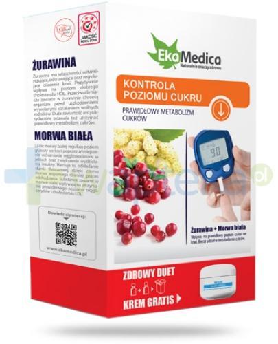 EkaMedica Zdrowy Duet Kontrola Poziomu Cukru Żurawina + Morwa Biała  2x 500 ml [ZESTAW]