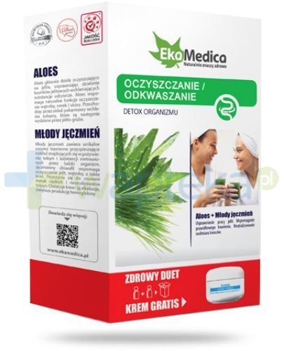 EkaMedica Zdrowy Duet Oczyszczanie Odkwaszanie Aloes + Młody Jęczmień  2x 500 ml [ZESTAW]