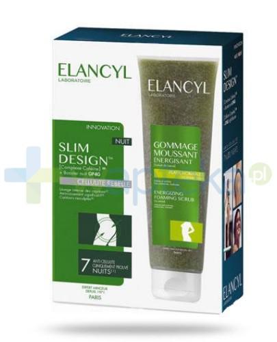 Elancyl Slim Design przeciw cellulitowi noc 200 ml + Peeling 150 ml [ZESTAW]