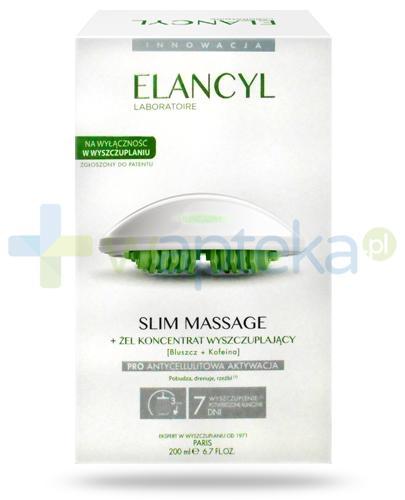 Elancyl Slim Massage masażer + skoncentrowany żel wyszczuplający 200 ml [ZESTAW]