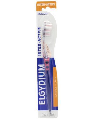 ELGYDIUM Inter-active szczoteczka do zębów średnia 1 sztuka
