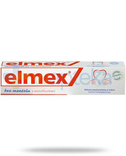 Elmex bez mentolu z aminofluorkiem pasta do zębów 75 ml