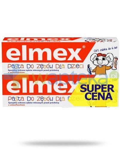 Elmex pasta do zębów z aminofluorkiem dla dzieci od 1 ząbka do 6 lat 2x 50 ml [DWUPAK]