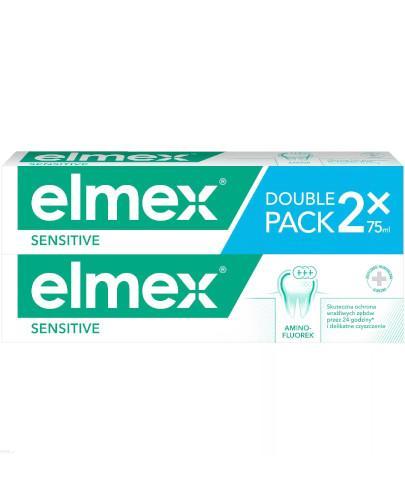 Elmex Sensitive pasta do zębów z aminofluorkiem 2x 75 ml [DWUPAK]