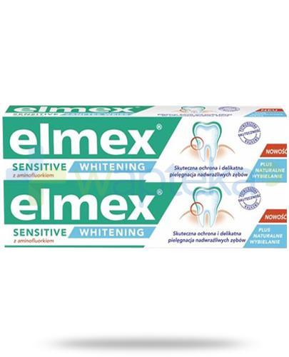 Elmex Sensitive Whitening z aminofluorkiem pasta do zębów 2x 75 ml [DWUPAK]