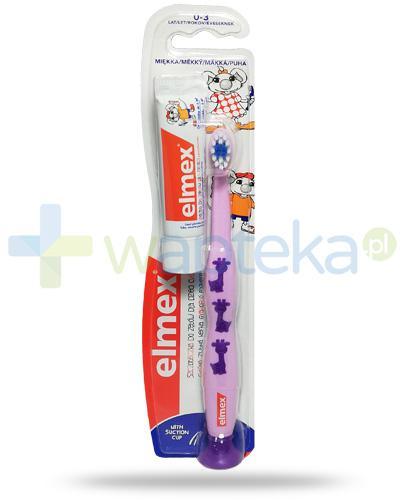 Elmex szczoteczka miękka do zębów dla dzieci 0-3 lat 1 sztuka + Elmex pasta do zębów z aminofluorkiem dla dzieci od 1 ząbka do 6 lat 12 ml [ZESTAW]