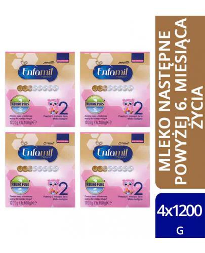 Enfamil 2 Premium mleko w proszku dla dzieci 6m+ 4x 1200 g [WIELOPAK]