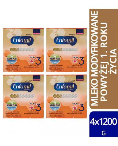 Enfamil 3 Premium mleko w proszku dla dzieci 12m+ 4x 1200 g [WIELOPAK]