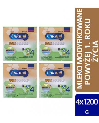 Enfamil 4 Premium mleko w proszku dla dzieci 24m+ 4x 1200 g [WIELOPAK]