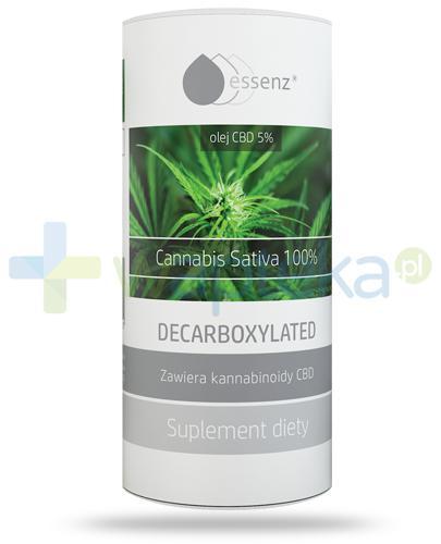 Essenz Cannabis Sativa 100% dekarboksylowany olej z konopi CBD 5% 15 ml