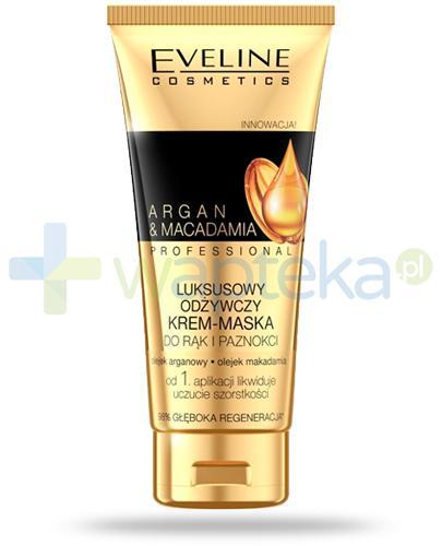 Eveline Argan & Macadamia Professional luksusowy odżywczy krem-maska do rąk i paznokci 100 ml