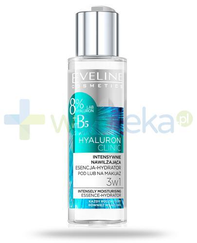 Eveline Hyaluron Clinic intensywnie nawilżająca esencja-hydrator 3w1 pod lub na makijaż, płyn 110 ml + KUP DWA PRODUKTY z linii Hyaluron otrzymasz matujący podkład kryjący 30ml [GRATIS]