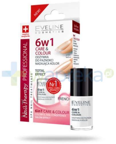 Eveline Nail Therapy 6 w 1 care & colour odżywka do paznokci nadająca kolor french 5 ml