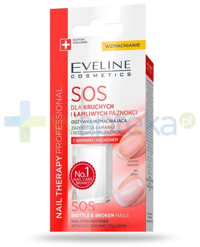 Eveline Nail Therapy SOS odżywka wzmacniająca z wapniem i kolagenem do paznokci 12 ml