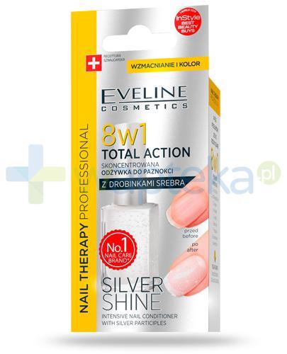 Eveline Nail Therapy Total Action Silver Shine 8w1 skoncentrowana odżywka do paznokci 12 ml