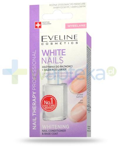Eveline Nail Therapy White Nails odżywka wybielająca z bazą pod lakier do paznokci 12 ml