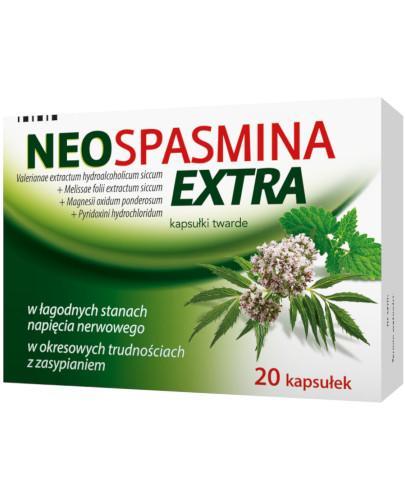 Neospasmina Extra 250 mg + 50 mg + 80 mg + 5 mg 20 kapsułek