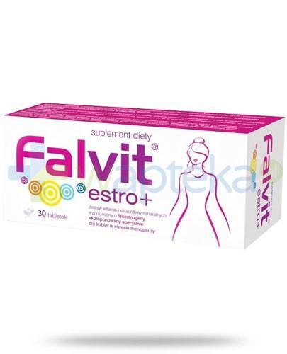 Falvit Estro+ wzbogacony o wyciąg z szyszek chmielu 30 tabletek