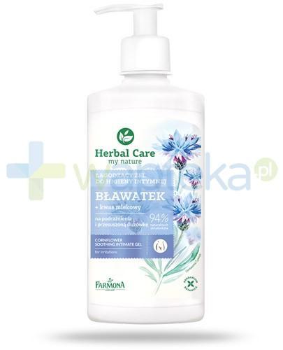 Farmona Herbal Care Bławatek łagodzący żel do higieny intymnej z kwasem mlekowym 330 ml