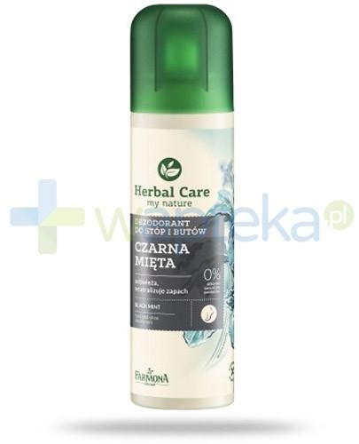 Farmona Herbal Care Czarna Mięta Dezodorant do stóp i butów 150 ml