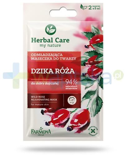 Farmona Herbal Care Dzika róża odmładzająca maseczka do twarzy do skóry dojrzałej 2x 5 ml