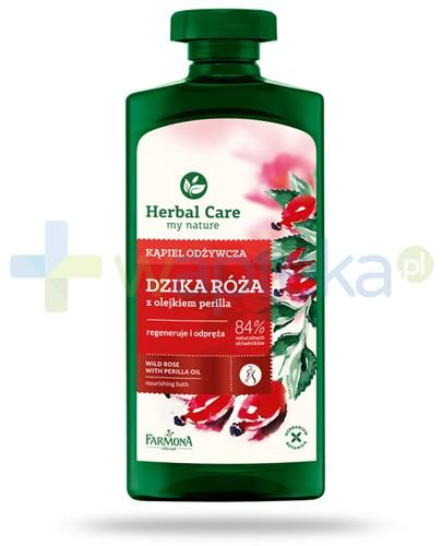 Farmona Herbal Care Dzika róża płyn do kąpieli z olejkiem perilla 500 ml